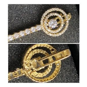 Jewelry - Vermeil or Gold Over Sterling CZ Tennis Bracelet